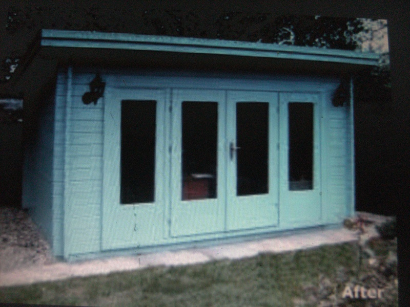 Solid coloured upvc cabin